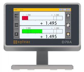 Wyświetlacz D70A z przetwornikiem pneumatycznym (2 kanałowy)